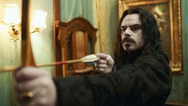 Jemaine Clement as a vampire in <i>What We Do in the Shadows</i>.