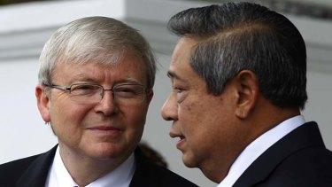 Kevin Rudd with Indonesian President Susilo Bambang Yudhoyono.