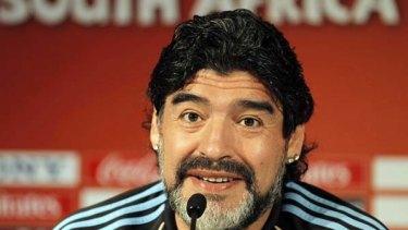 Confident ... Diego Maradona