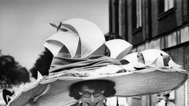 Does my head look big in this? ... Dame Edna in 1976.