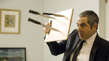 More of the same … Rowan Atkinson as the unspectacular Johnny English.