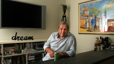 John Sorell in his Melbourne apartment in 2007.