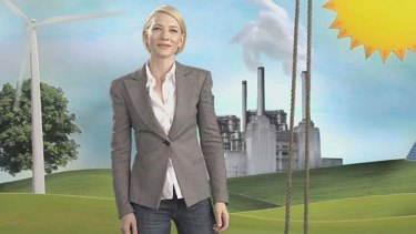 Movie star Cate Blanchett was attacked over her role in an advertisement advocating a carbon tax. The PM must avoid the same mistake in the government's planned ad campaign.