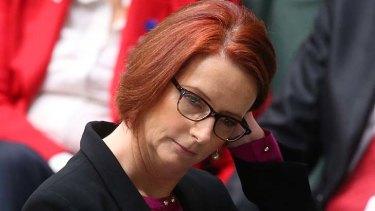 Under pressure: Prime Minister Julia Gillard.