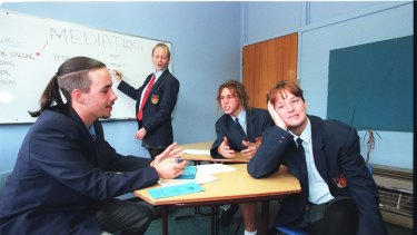 Students at Peter Board High school in the 1990s.