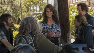 Breakout star: Walton Goggins as Venus Van Dam draws the tough men in <i>Sons of Anarchy</i>.
