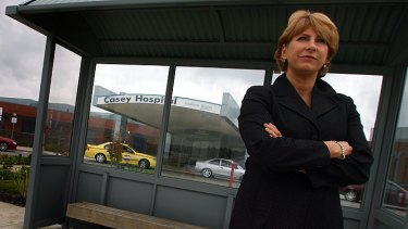 Fled ... MP Lorraine Wreford's Berwick home was targeted.
