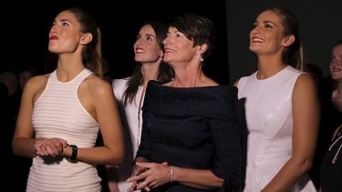 ''Very smart'': Margie Abbott and daughters Bridget, Louise and Frances.