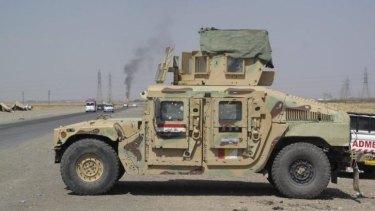 An abandoned Iraqi military vehicle outside Kirkuk.