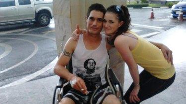 Sean with his girlfriend Amy Myles in Thailand.