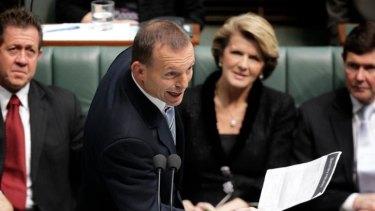 The Opposition Leader, Tony Abbott, speaks against the Clean Energy Bill.