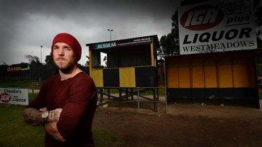 Dane Swan on home turf at Westmeadows Football Club.