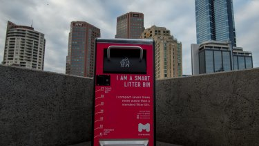 Smart bins will be rolled out across the city.