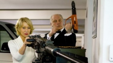 Veteran method actors Helen Mirren (left) and John Malkovich explore the delicate subtleties of their characters in the action-comedy RED.