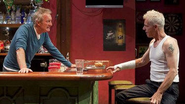 Bryan Brown and Colin Friels in Ross Mueller's <i>Zebra!</i>.
