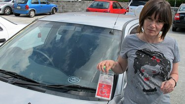 Sonya Frost is upset at having her car towed from an inner-city car park.