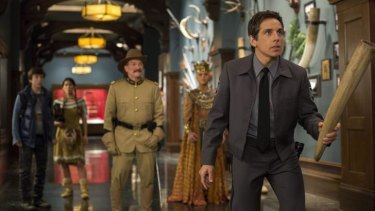 No. 2 must see ... Ben Stiller, right, and friends in <i>Night at the Museum: Secret of the Tomb</i>.