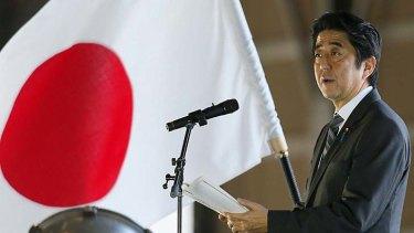 Mandate ... Japanese Prime Minister Shinzo Abe.