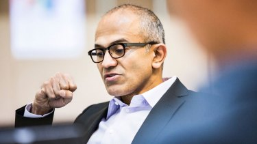 Speaking up: Microsoft CEO Satya Nadella talked his way into controversy at the Grace Hopper Celebration of Women in Computing forum.