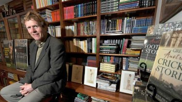 Ken Piesse in his library: 'I think I'm Australia's most published current author, certainly for sport.'
