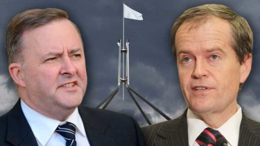 Contesting for leadership: Anthony Albanese and Bill Shorten.