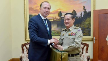 Australian Immigration Minister Peter Dutton.
