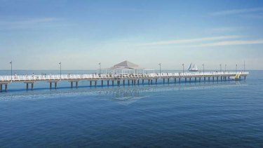 An artist's impression of the new Shorncliffe Pier.