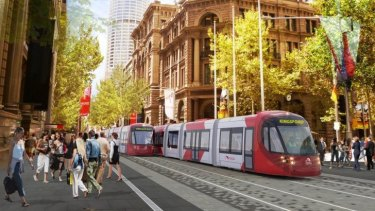 On track: An artist's impression of the proposed light rail system.