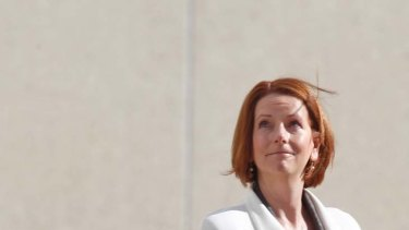 """Policy legacy ... Julia Gillard believes Labor are """"on the right side of history""""."""