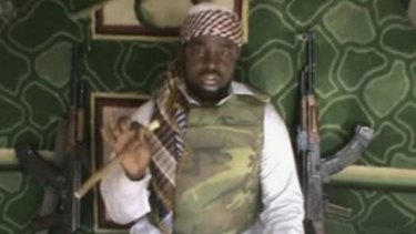 Abubakar Shekau, leader of Boko Haram, from a video posted by the group.