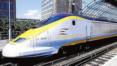 The Eurostar train in London.