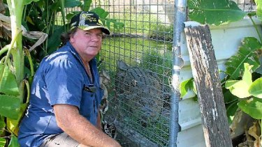 John Casey is fighting to keep Charlene, a three-metre estuarine crocodile, in the family.