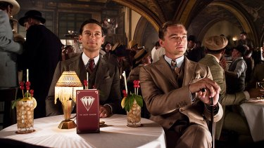 Tobey Maguire and Leonardo DiCaprio in <i>The Great Gatsby</i>.