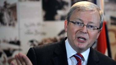 Cold, curt, quick tempered ... Kevin Rudd.