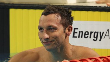 Ian Thorpe during the 2012 Australian Olympic trials: he failed to make the team.