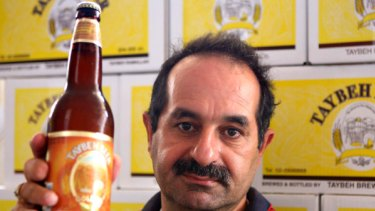 Brewer Nadim Khoury and his Taybeh Beer.