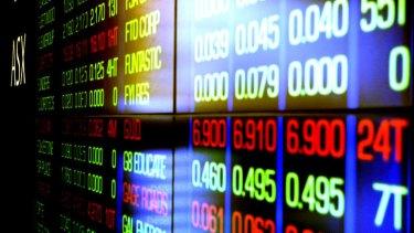 An ASX stock board.