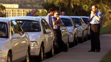The Holden fleet could be replaced by the Toyota Prius. PICTURE: PAT SCALA