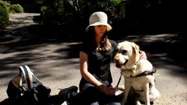 Discriminated against...Sarah Hirst and her guide dog, Ally.