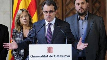 Date set: Head of the Catalunyan regional government Artur Mas announcing the referendum.