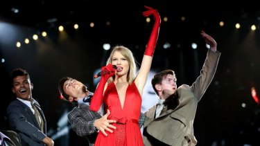 Taylor Swift during her Australian Red tour.