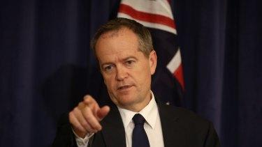 Opposition Leader Bill Shorten on Tuesday.