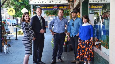 Fighting for their community: (from left) Jessica Commins,Darcy Byrne,Tim Condon, James Brady and Kate Moriarty.