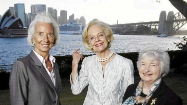 IMF managing director Christine Lagarde, Governor-General, Quentin Bryce and the chair of the US Federal Reserve, Janet Yellen at the G20 meeting in Sydney last month.