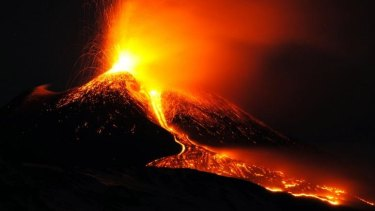 Eruption: Lava spews out of  Mount Etna volcano in Sicily, forcing the closure of a nearby airport.