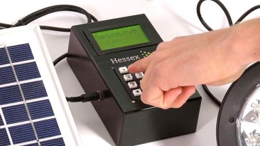 Users unlock more power by paying via mobile phone and entering a code into the keypad.