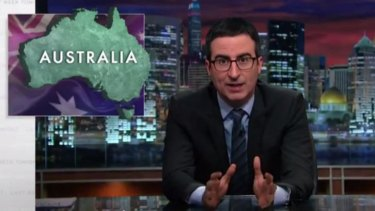 John Oliver ridicules the tobacco industry's Supreme Courst case against the Australian federal government's plain packaging laws for cigarette cartons.