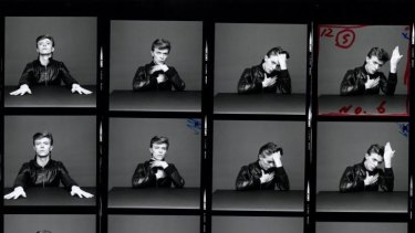 David Bowie, <i>Heroes</i> album cover contact sheet, 1977.