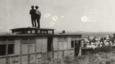 The Manchester Unity picnic train attacked by 'Turks' at Broken Hill on New Year's Day 1915.