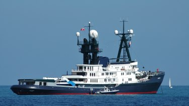 The Arctic P is the Packer family's 88-metre-long tinnie.